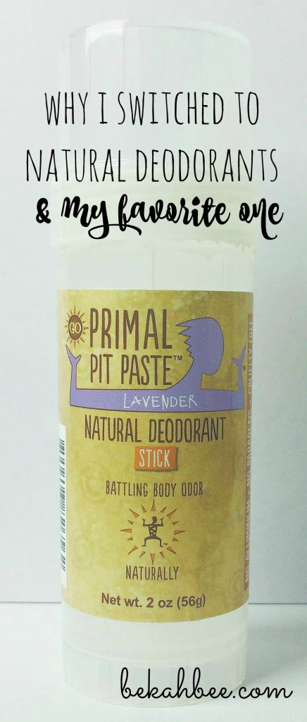 Why I switched to natural deodorants & my favorite one