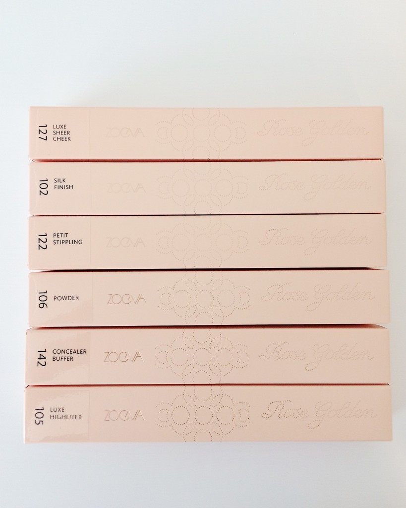 zoeva makeup brush boxes with labels