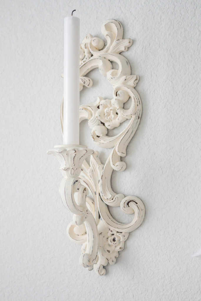 shabby chic french rococco style candle sconce