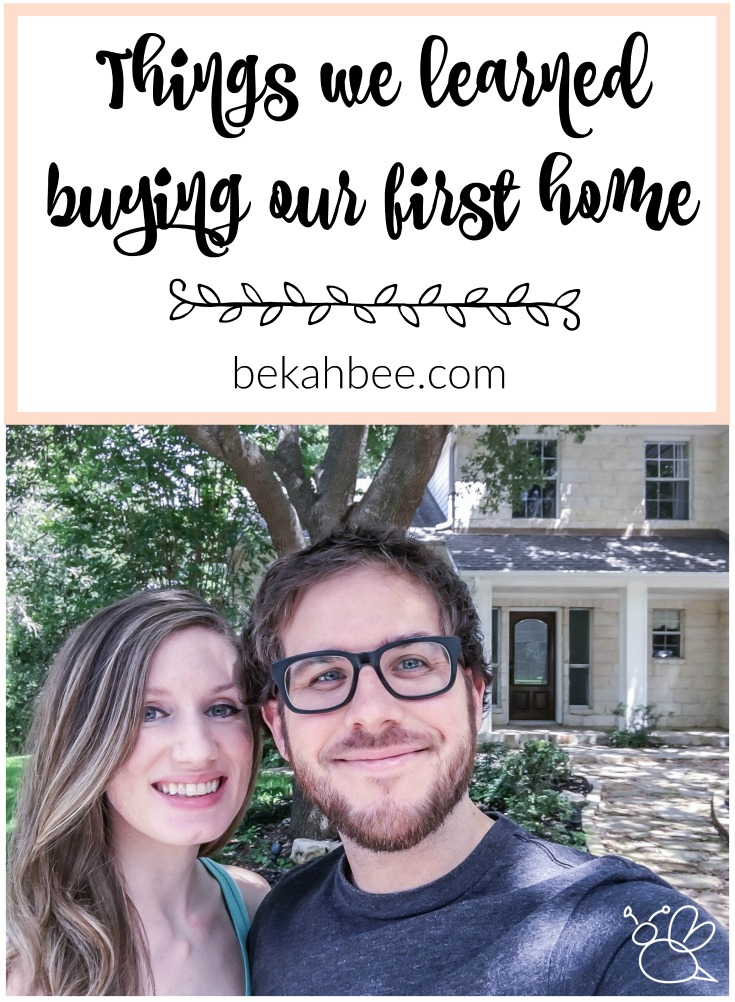 things we learned buying our first home