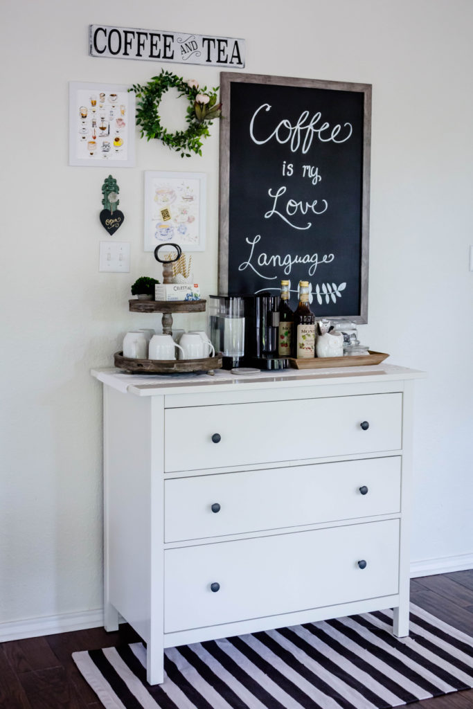 coffee bar from left side