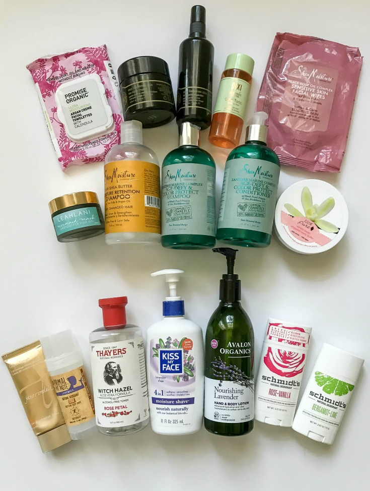 empties beauty and body products