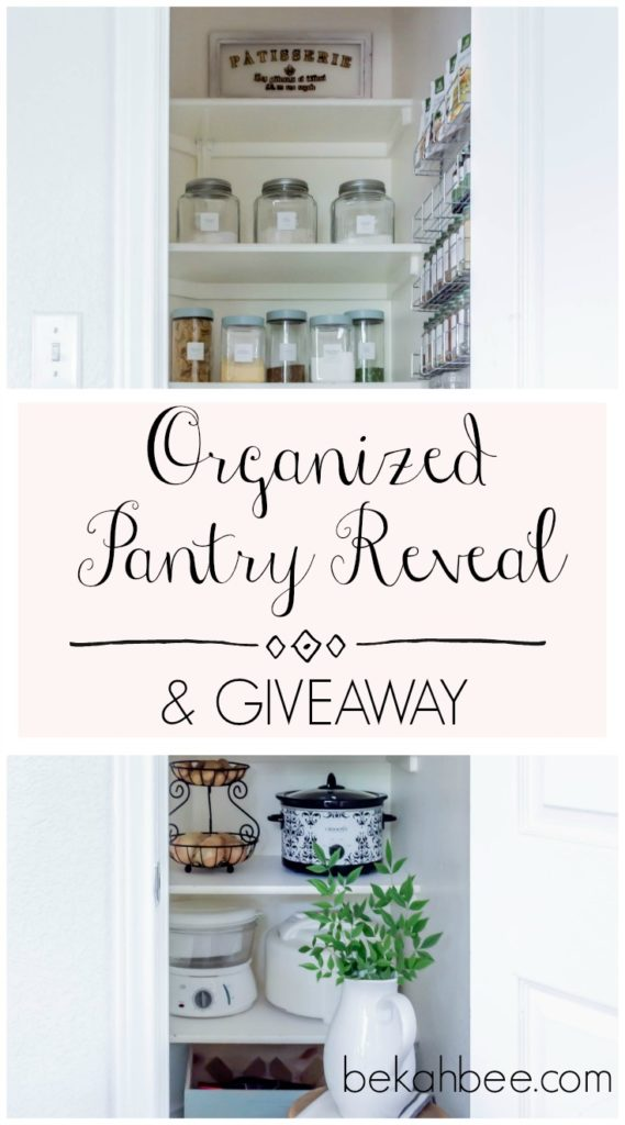 organized pantry reveal & giveaway